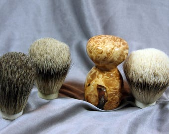 American Maple Burl Wood Clear Cast Shaving Brush Choose Your Own Badger Hair Wedding Wooden Graduation Anniversary Graduation Customizable