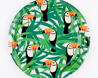 Toucan Tropical Plates 9 inches pk8