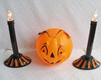 Upcycled Halloween Candoliers, Set of 2