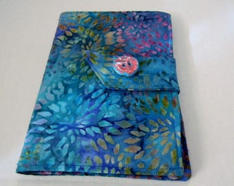 Teal Floral Batik Kindle Fire/Keyboard Cover