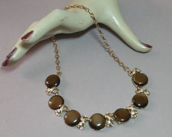 Vintage Chocolate Thermoset Necklace