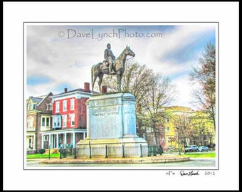 Richmond VA  - Stonewall Jackson Monument - Statue - General - Civil War - Confederate -  Fine Art Photography Print by Dave Lynch