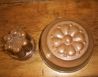Decorative Copper Molds-Vintage-Collectible-Both Molds for One Price