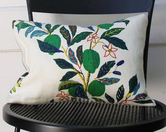 Schumacher Pillow Cover - Citrus Garden by Josef Frank - 11 X 15 1/2 inch - Primary - Decorative Pillow Cover - ready to ship