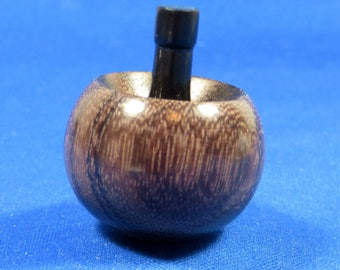 Tippe Top - East Indian Rosewood and Dyed Jelutong - It flips and spins upside down!