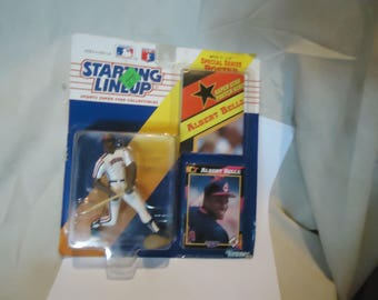 Vintage 1992 Kenner Starting Lineup Albert Belle Cleveland Indians Action Figure With Card and Poster In Sealed Package, collectable