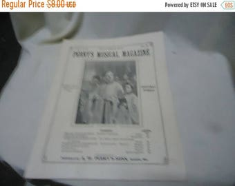 Ephemera & Books 50% Sale Vintage 1926 Perry's Musical Magazine Sheet Music, December, no 9, collectable