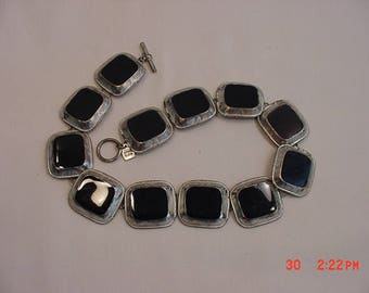 Vintage Anne Klein Toggle Necklace  17 - 723