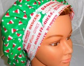 Bouffant Surgical Scrub Hat Reindeer and Trees