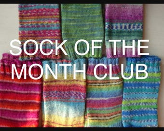 3 PAIRS -Sock Of The Month Club - 3 Month Subscription - Hand Knitted Socks - Knitted Socks - Sock Club - Sock Yarn - Yarn Club - Socks