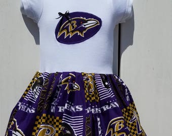 Size 3-9 Months Baltimore Ravens NFL Onesie Dress  READY to Ship