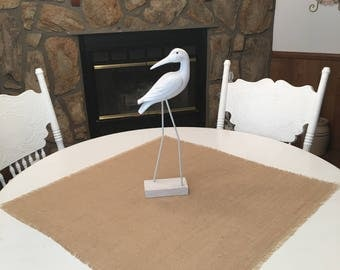 Large Size-Natural Burlap Table Squares-Burlap Table Covers-Select Your Size and Amount Needed-Natural Rustic Burlap Squares