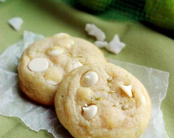 ON SALE Tropical White Chocolate Coconut Key Lime Cookies