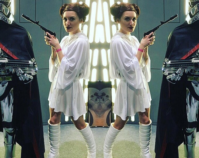 Featured listing image: Princess Leia Star Wars New Hope cosplay outfit - dress & belt