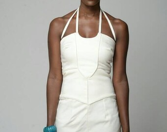 Tie-Neck Fitted Dress