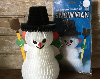 Vintage Snowman Accordian Comb Decorative Adorable 1970's