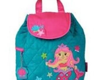 New Mermaid Girl Backpack Personalized Stephen Joseph