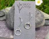 Simple circle minimalist sterling earring