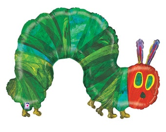 """Hungry Caterpillar Party Decorations - Hungry Caterpillar Foil Balloon - 41 """" Birthday Balloon - Hungry Caterpillar Decorations - Oversized"""