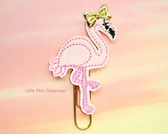 Pink Flamingo Planner Clip Paperclip