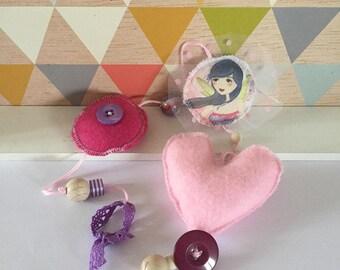 Garland / fabric pendant * Fairy lOve *.