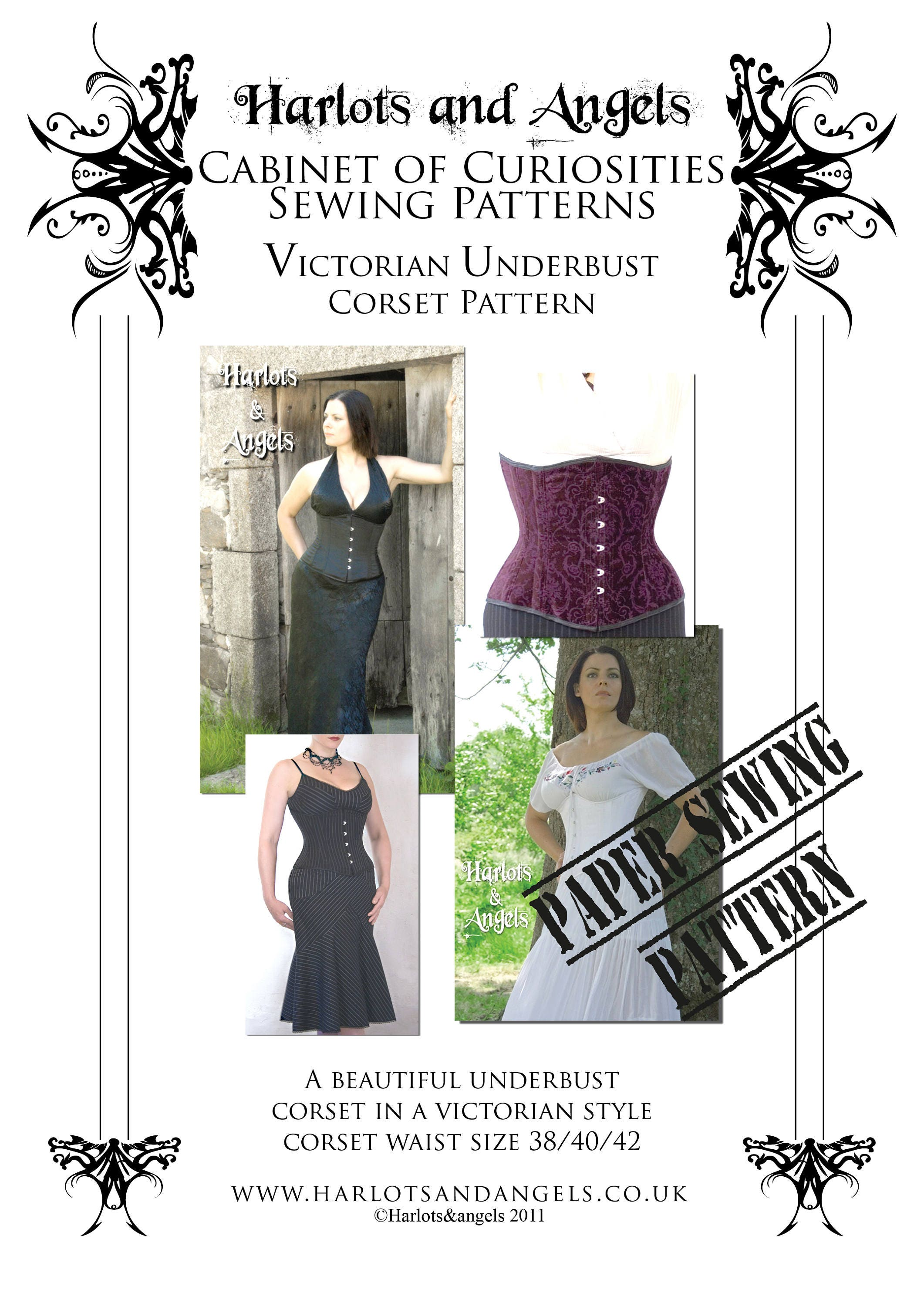 fde5ee62449 Victorian Under bust Corset paper Sewing Pattern Extra Large Great fit  Tight lacing. from Harlotsandangels on Etsy Studio