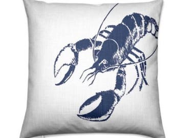 Handmade Nautical Lobster Floor Cushion Cover