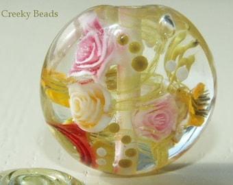 Handmade Lampwork Focal bead - 'Rose Garden!' - Creeky Beads SRA