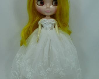 Blythe Outfit Clothing Cloth Fashion handcrafted beads tutu lace gown dress 9-3