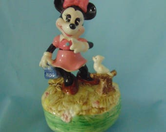 Vintage Walt Disney Minnie Mouse Music Box