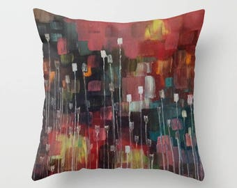Throw Pillow Abstract Artwork printed on Pillow Unique Throw Pillow FULL PILLOW