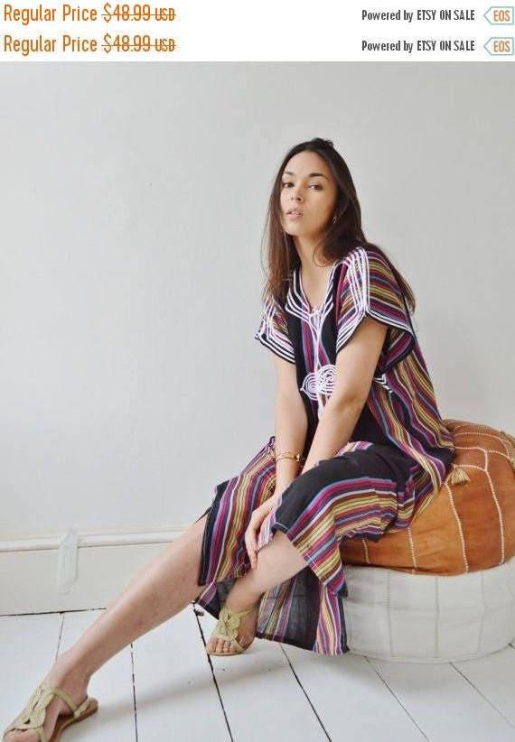 25% OFF Autumn Sale// KAFTAN SALE 10 Percent Off// Black Bedouin Resort Moroccan Caftan Kaftan-Beach kaftan, maternity wear,loungewear, as b