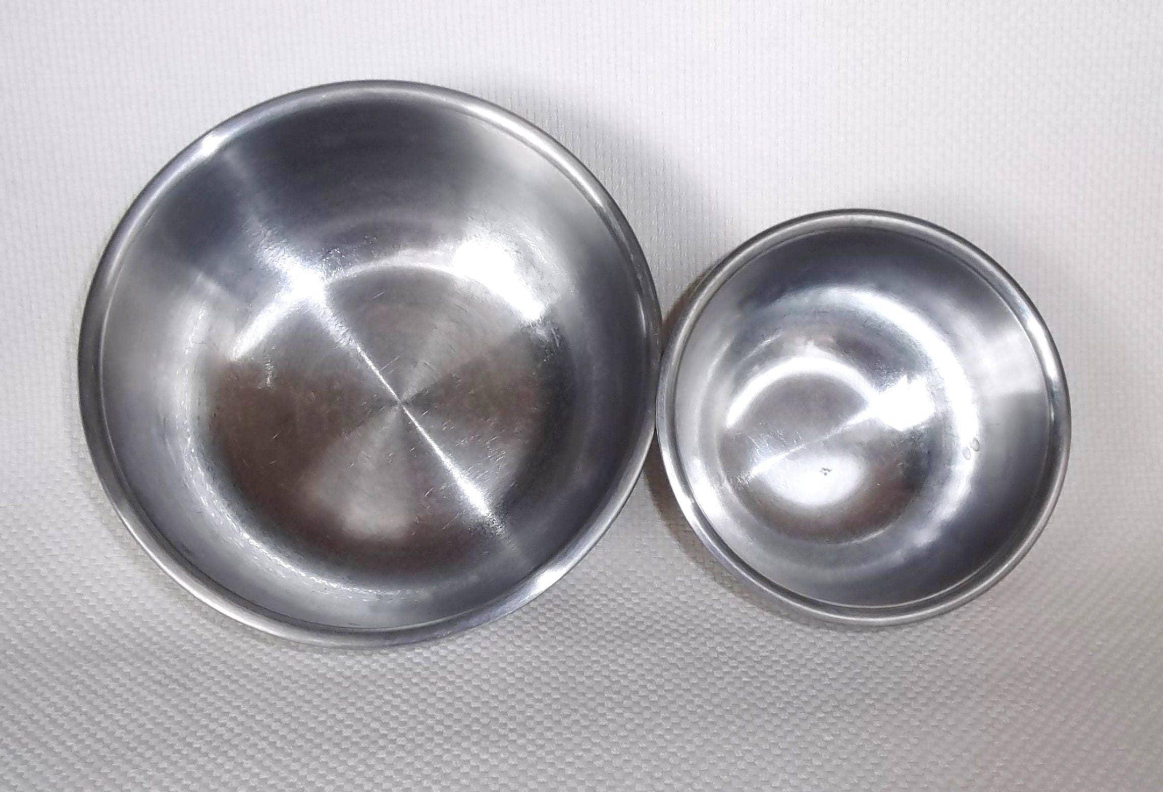 Vintage Vollrath 2 Piece Stainless Steel Mixing Bowl Set 1.5 Quart ...