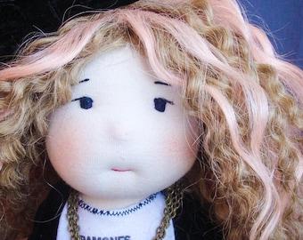 Cindy, decorative doll, rock, doll, ooakdoll