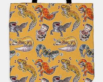 Leopard gecko tote bag