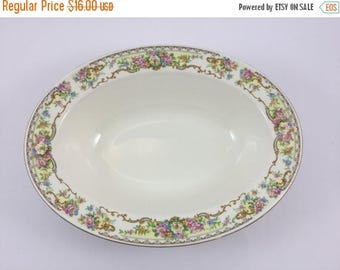Sale Vintage Edwin M Knowles Oval Vegetable Dish Bowl Made in USA