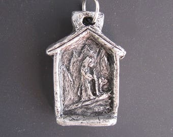 St. Bernard: Patron of Skiers, Rock and Mountain Climbers, Hikers, Large Dogs; Handmade Medal/Pendant