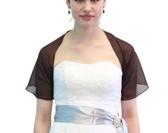 Summer Sale Chiffon Bridal Wrap Wedding Shawl - Brown 5139CH