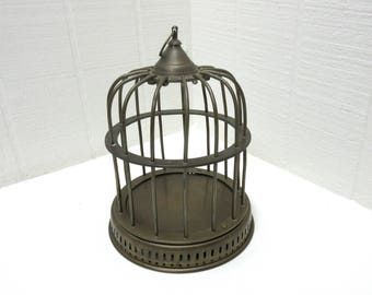 Vintage Small Brass Bird Cage