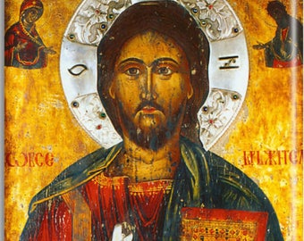 Jesus Christ Icon Russian Orthodox Christian Icon Ceramic Art Tile