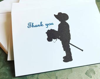 Cowboy Thank you Cards cowboy cards note cards cowboy cards cowboy stationary cowboy Birthday