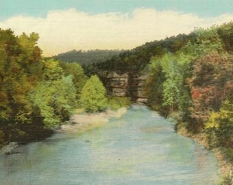 Buffalo River near Harrison Arkansas Unused Vintage Postcard