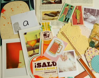 Cheers!  CRAFTY BITS - crafting kit with papers and embellishments