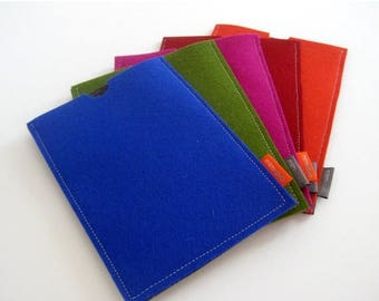20% off iPad Mini case. pure wool felt. computer accessory. royal blue. green. magenta. orange. red. tablet case. tablet sleeve. made by mlm