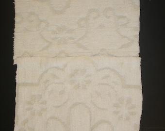 """Cotton Chenille Bedspread Squares 100% Cotton Chenille fabric Squares White/ecru color 18"""" x 20"""" Size"""