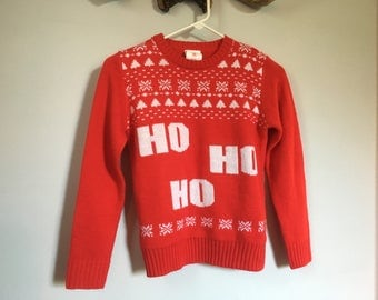 Vintage 80s red Christmas sweater