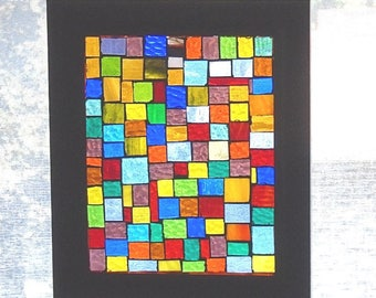 Stained Glass Mosaic Window Panel Window Hanging Sun Catcher Suncatcher