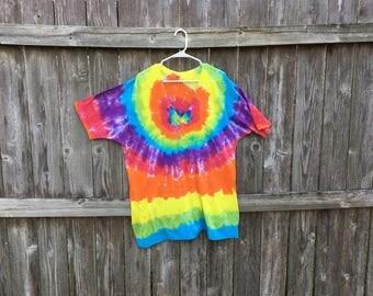 XXL rainbow tie dyed tshirt
