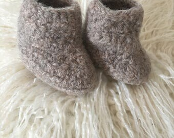 Baby Booties Crochet Wool