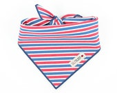 Red White Blue Stripe Dog Bandana